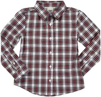 Osh Kosh L/S Plaid Woven Shirt - Red-4