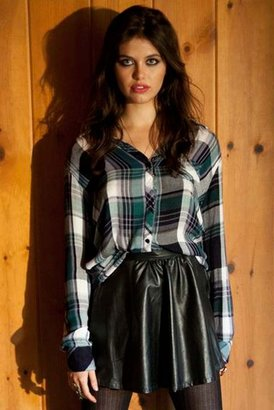 Rails Hunter Plaid Shirt in Green/White