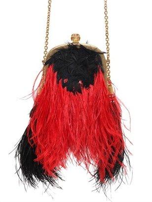 Alexander McQueen Faux Ostrich Feather Shoulder Bag
