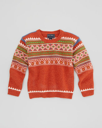 Oscar de la Renta Boys' Fair Isle Lambswool Sweater, 4Y-10Y