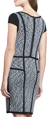 Milly Body-Con Space-Dye Dress