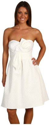 Max & Cleo Strapless Front Bow Dress