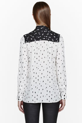 Proenza Schouler Off-white silk Spot patterned blouse