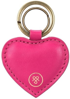 Maxwell Scott Bags Maxwell Scott Nappa Leather Heart Shape Key Ring - Mimi Nappa Hot Pink