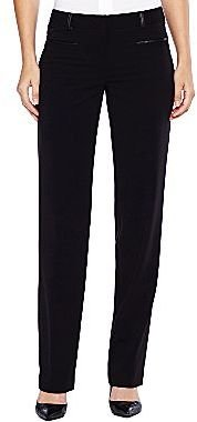 JCPenney Worthington® Leather-Trim Pants - Petites