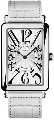 Franck Muller Ladies Long Island Watch with Alligator Strap $7,590 thestylecure.com