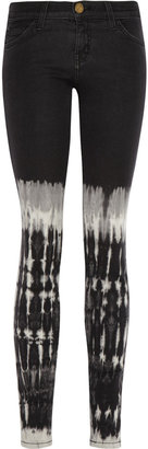 Current/Elliott The Ankle tie-dyed low-rise skinny jeans