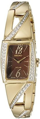 Seiko Women's SUP248 Analog Display Japanese Quartz Gold Watch $295 thestylecure.com