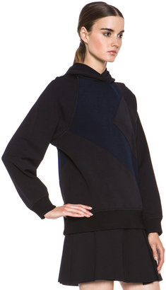 Proenza Schouler Neoprene Hoodie Sweatshirt in Navy