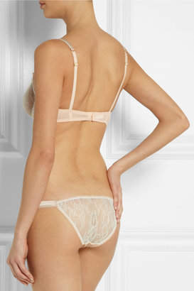 Mimi Holliday Banoffee Pie lace and stretch-silk briefs