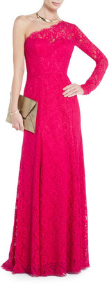 Red Carpet Betsy One-Shoulder Lace Gown