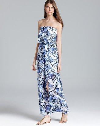 Aqua Maxi Dress - Lunar Tie Dye Chiffon