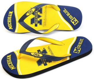 JLO by Jennifer Lopez Michigan wolverines zori flip-flops - adult