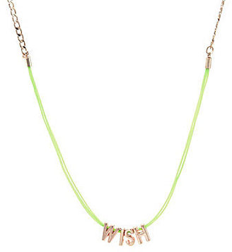 BCBGeneration Mini Cord Wish Affirmation Necklace