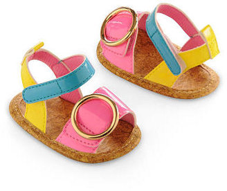 Gold Bug Girl Neon Color-block Sandals