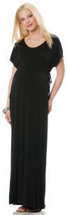 Motherhood Short Sleeve Jersey Knit Dolman Sleeve Maternity Maxi Dress