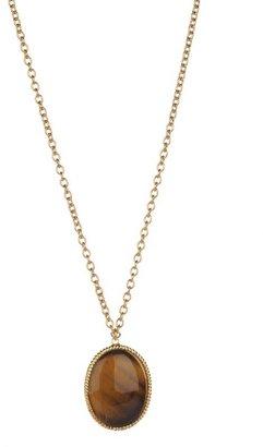 Yochi Design Yochi Oval Stone Pendant Necklace