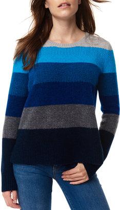LISA TODD Stripe Wise Wool-Blend Sweater