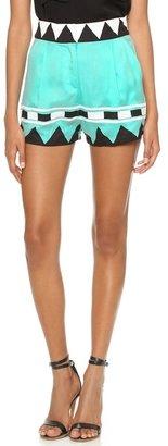 Mara Hoffman Geo Highwaisted Shorts