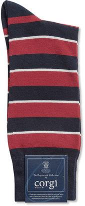 Corgi Queen's Dragoon Guards Striped Cotton-Blend Socks