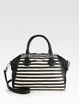 Kate Spade Catherine Pippa Striped Mixed-Media Satchel