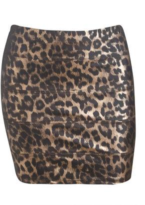 Arden B Latex Bandage Mini Skirt