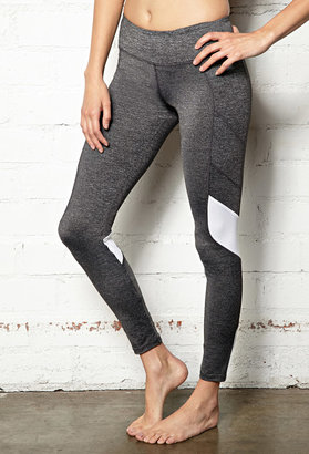 Forever 21 Heathered Colorblocked Performance Legging