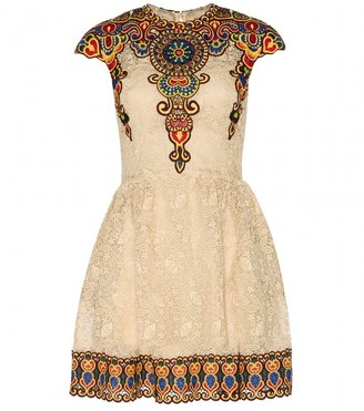 Valentino Embroidered lace dress