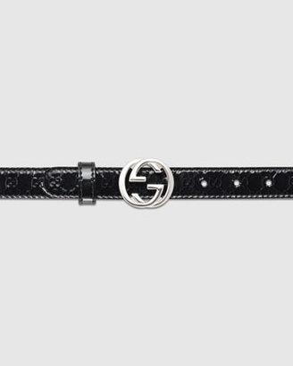 Gucci Adjustable Belt with Interlocking G Buckle