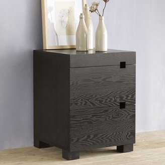 west elm Square Cutout Nightstand - Chocolate
