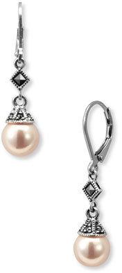 Women's Judith Jack Imitation Pearl Drop Earrings $70 thestylecure.com