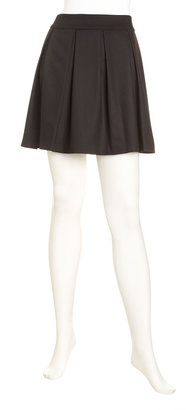 Alice + Olivia Pleated Skirt, Black