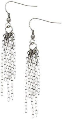 Steel By Design Stainless Steel Multi-Strand Box Chain Dangle Earrings