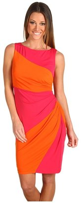 Muse Color Block Side Ruched Dress