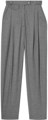 Burberry Cut-out Detail Wool Jersey Tailored Trousers