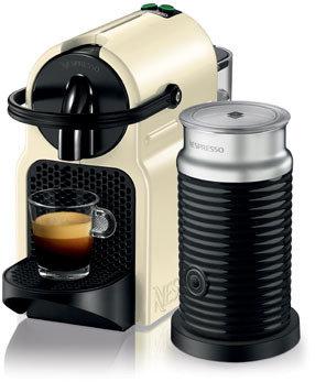 Nespresso by Delonghi EN80CWAE Inissia Capsule Coffee Maker: Cream