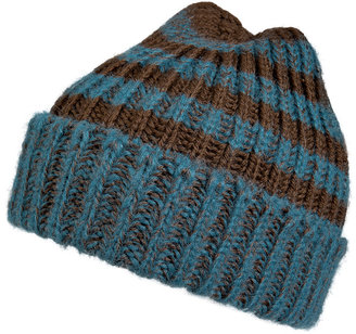 Paul Smith Merino-Alpaca Wool Striped Dexy Hat