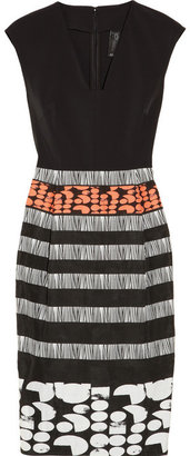 Zero Maria Cornejo Biri stretch-twill and jacquard dress