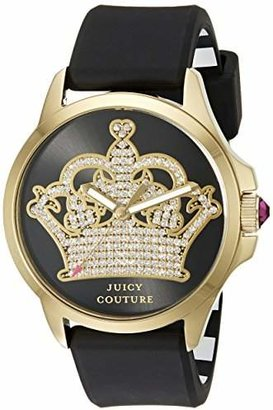Juicy Couture Women's 1901142 Jetsetter Analog Display Quartz Black Watch $145 thestylecure.com