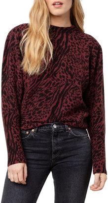 Rails Genevieve Animal-Print Wool-Cashmere Sweater