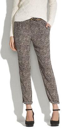 Madewell Silk newsprint pants