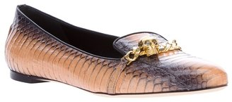 Alexander McQueen skull and chain loafer