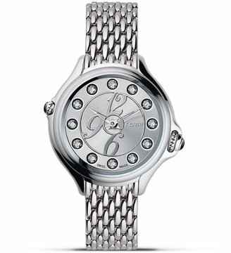 Fendi Round Crazy Carats Diamond and Topaz Stainless Steel Watch, 33mm