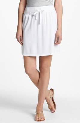 Caslon French Terry Skirt White X-Small