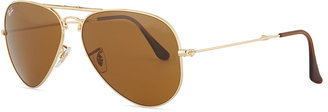 Ray-Ban Foldable Aviators, Golden/Brown
