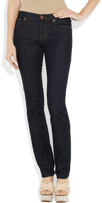 J Brand 814 mid-rise straight-leg jeans