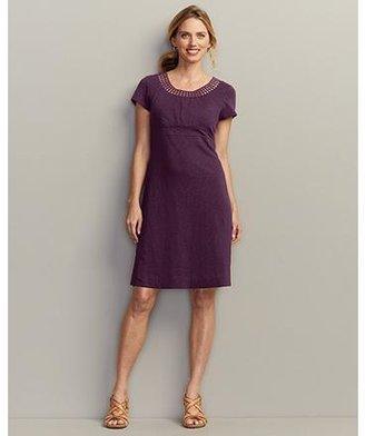 Eddie Bauer Lace Neckline Dress - Solid