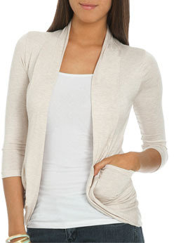 Wet Seal WetSeal Lace Back Cardigan Red