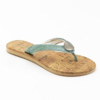 Sonoma life + style ® snakeskin disc flip-flops