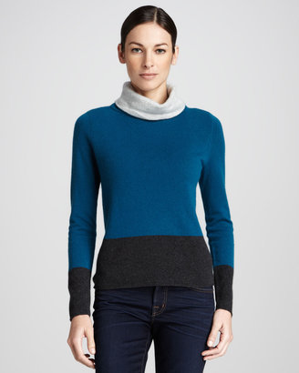 Magaschoni Colorblock Turtleneck Sweater